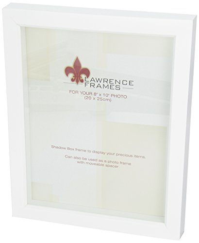 Lawrence Frames 795280 White Wood Treasure Box Shadow Box Pi