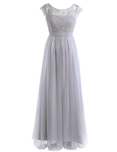 HotGirls Damen Spitze Kleid festliches Kleid AbendKleidSleeveless ...
