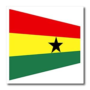 ht_174538_1 Florene - Flags of World Unique - image of ghana flag in contemporary style - Iron on Heat Transfers - 8x8 Iron on Heat Transfer for White Material