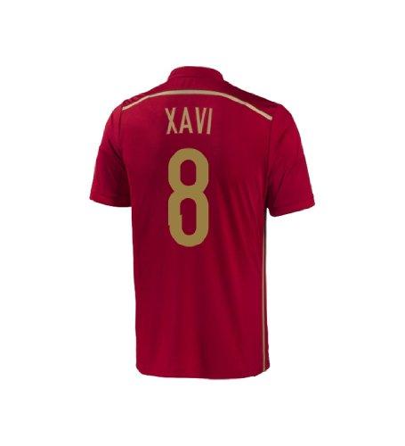 Adidas XAVI #8 Spain Home Jersey World Cup 2014 YOUTH (YXL)