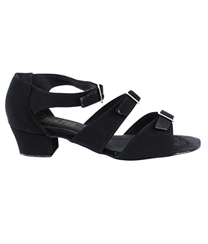 Very Fine Ballroom Latin Tango Salsa Dance Shoes for Women 1679 1.5 inch Heel + Foldable Brush Bundle Black Nubuck for sale buy authentic online cheap pre order outlet wholesale price discount explore o1tCQZF