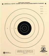 50 Foot Timed and Rapid Official NRA Target B-3 (100)