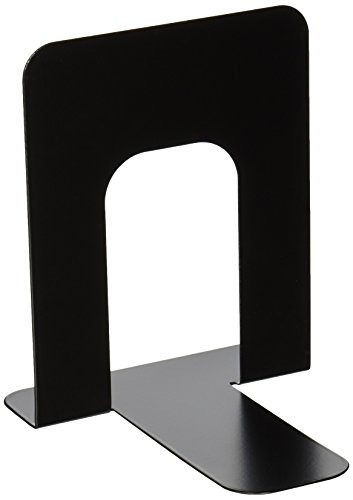 School Smart Non Skid Bookends - Standard Size - Set of Two - Black Bookends Standard Base