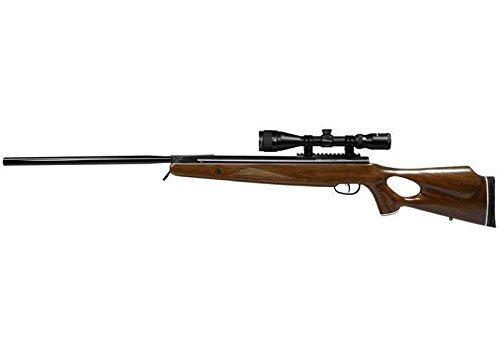 Trail NP XL1100 Break Barrel Air Rifle, Nitro Piston .22 Cal, Hardwood Stock, 3x9mm Scope, 950 FPS (Alloy)