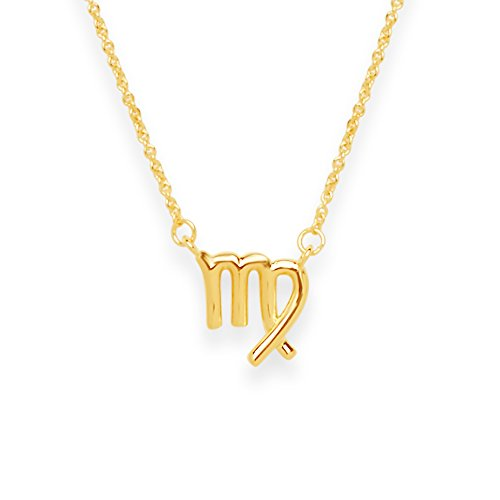 Sterling Forever (Virgo) Women?s Zodiac Necklace - Zodiac Sign Necklace, Gold Plated (Virgo)