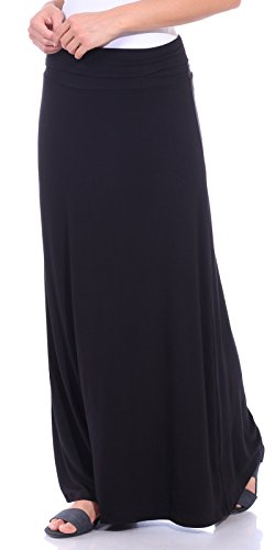 - Popana Women's Casual Long Convertible Maxi Skirt Summer Beach Cover Up Made in USA Black XL