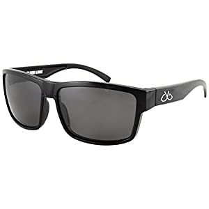 Filthy Anglers Ames Polarized Fishing Sunglasses Black Wayfarer Frame, Smoked Lens Perfect for Sport, Hiking, Boating, Kayak
