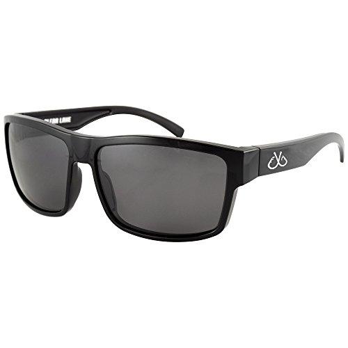Filthy Anglers Ames Polarized Fishing Sunglasses Black Wayfarer Frame, Smoked Lens Perfect for Sport, Hiking, Boating, Kayak