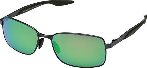 Maui Jim Shoal GM797-02F | Polarized Brushed Gunmetal Rectangular Frame Sunglasses, with with Patented PolarizedPlus2 Lens ()