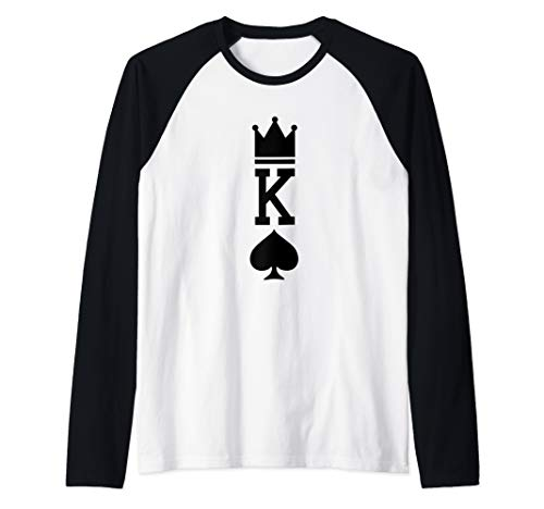 King of Spades Playing Card Halloween Costume Raglan Baseball Tee -