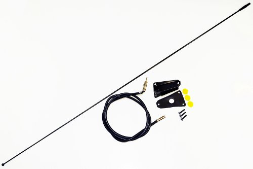 AntennaMastsRus - BLACK Replacement Antenna is Compatible with Jeep CJ (1976-1995) - Jeep Wrangler (1985-1996)