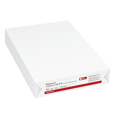Office Depot Copy & Print Paper, 8.5 X 11 inch, 20 pound, 500 sheets, 92 brightness