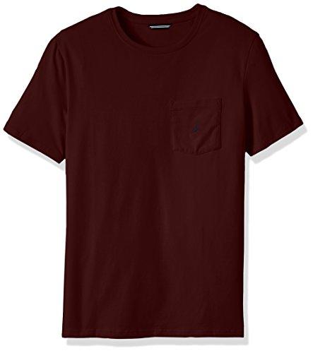 Burgundy Pocket Tee - Nautica Men's Solid Pocket T-Shirt, Royal Burgundy, Medium
