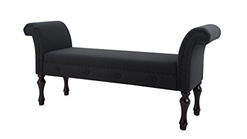 Jennifer Taylor Home 9605-978 Elise Bench, Jet Black