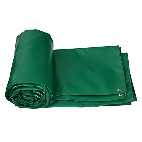 AQAWAS Heavy Duty Extra Poly Tarp, Tarpaulin Waterproof Outdoor Reversible for Wood Piles Crop Coverings Truck Covers Etc,Green_3x4m ()
