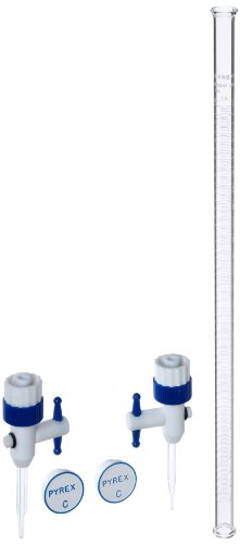 Corning Pyrex Borosilicate Glass Economy Grade Burets with Replaceable PTFE Stopcock, 450mm H, 25ml Capacity (Case of 6) by Pyrex