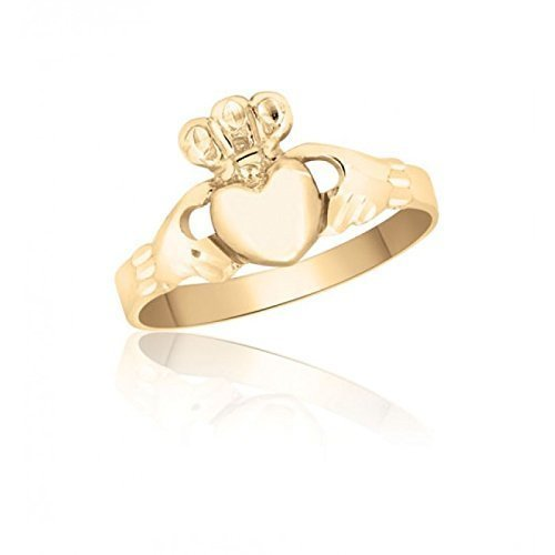 10K Yellow Gold Irish Claddagh Ring – Love – Loyalty – Friendship – Marriage – Engagement – Promise