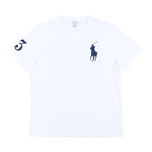 Ralph Lauren Pony (Polo Ralph Lauren Mens Crew Neck Big Pony T-Shirt (L, White))