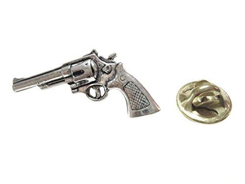 Modern Pistol Revolver Gun Lapel Pin
