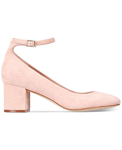 ALDO Womens Clarisse Suede Closed Toe Ankle Strap Classic Pumps, Pink, Size 8.0