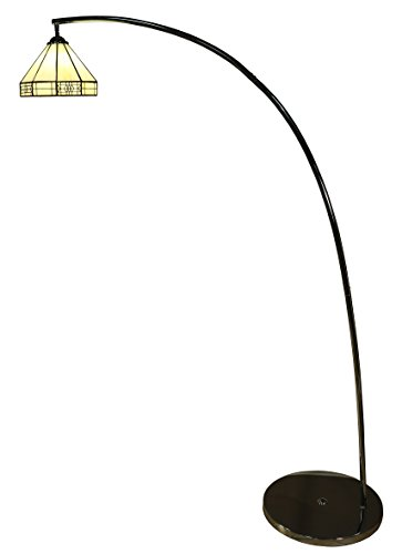 Whse of Tiffany WSC103625/DF1708 Brenda 1-Light Tiffany-Style Mission-Style Floor Lamp, 64