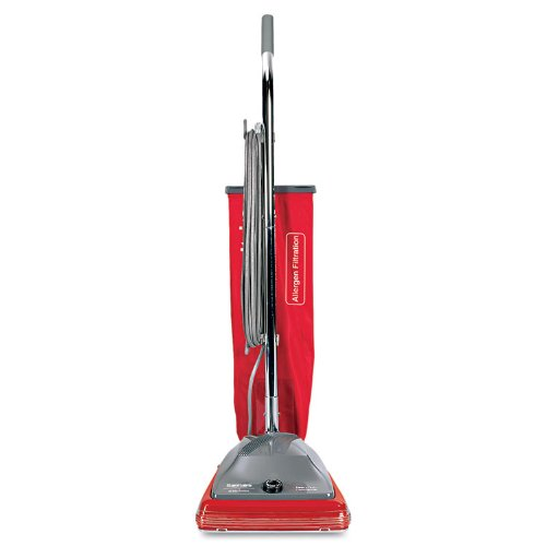 Sanitaire SC688A Commercial CRI Approved Upright Vacuum Cleaner with Disposal Bag and 7 Amp Motor, 12