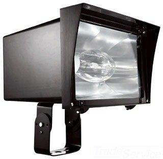 RAB Lighting FZH320PSQ Floodzilla Pulse Start Metal Halide Floodlight with Trunnion Mounting Bracket, ED28 Type, Aluminum, 320W Power, 29700 Lumens, 277V, CWA-HPF QT Ballast, Bronze Color