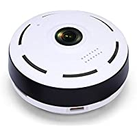 Margoun Indoor Wide 360 Degree Wifi Digital Video Recording CCTV Home Security with Night Vision, Speaker and mic - White