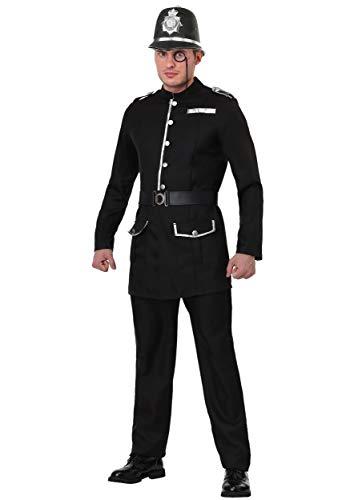 British Bobby Men's Costume Small Black -
