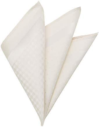 (ザ・スーツカンパニー) 4面パネル シルク×レーヨンポケットチーフ ホワイト