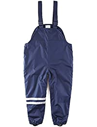 Suspender Rain Pants Fleece Lined Bib - Muddy Play Overalls 18 Months - 7 Years