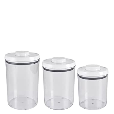 OXO 3-Piece Pop Round Canister Set, White
