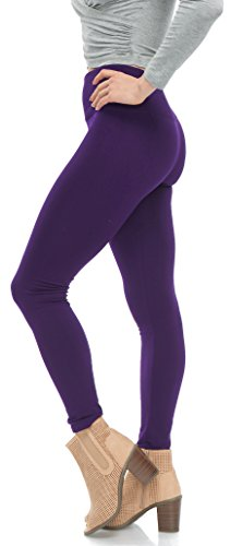 ef2e5aa69 LMB High Waisted Fleece Leggings for Women with Thick Brushed Soft Interior  - Many Colors -