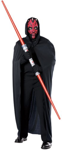 Darth Maul Costume Kit - Mask with Attached Hood and Cape