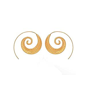 Personality Punk Round Spiral Drop Earrings