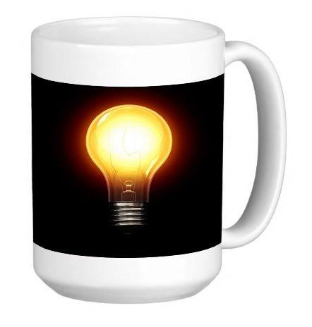 Classic Light Bulb 15 Ounce Ceramic Coffee Mug Tea Cup (Pack Case 15 Bulb)