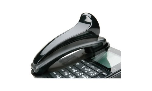 SKILCRAFT 7520-01-592-3859 Curved Plastic Telephone Shoulder Rest, 7 x 2 x 2-1/2 Inch Height, Black