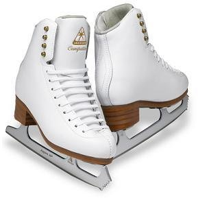 Jackson DJ2471 Competitor Misses Ice Skates White Single Jump/Axel Level Figure Skating (C, 2.5) by Jackson