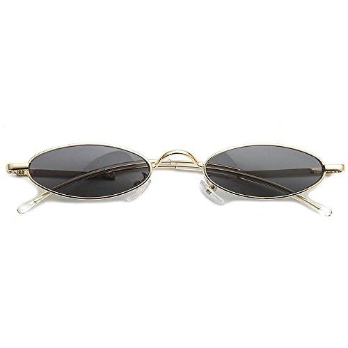Sol De segundo De para De De Decorativas Gafas Sol Gafas Rizado Sol Mujer JUNHONGZHANG con Gafas De De Metal De Pequeña De Gafas Moda B Viaje Sol Montura RqwBp8f