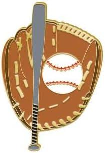 Crown Awards Baseball Pin 1 Baseball Bat Glove and Ball Lapel Pin