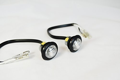 Small Round Flush Mount LED Indicators Markers For Project Motorbikes and Scooters Alchemy Parts Ltd