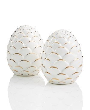 Jay Imports Merry and Bright Pine Cone 2-Pc. Salt & Pepper ()