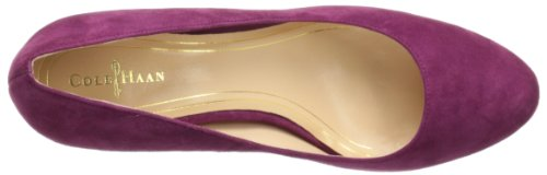 Cole Haan Womens Chelsea Flared-Heel Pump Winery Suede UbbMn6Wr