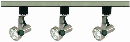 (Nuvo Lighting TK353 Mr16 Gimbal Ring Track Kit, Brushed Nickel)