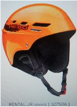 HEAD Protection Helmet 327506 - Rental Jr.- ORANGE, Size XXS 49-50 cm by HEAD