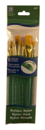 Loew-Cornell 659 Brush Set, Acrylic, Golden Nylon