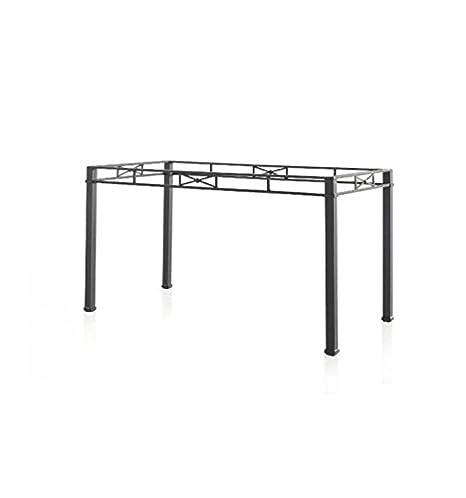 Mesa de forja Florencia - 6-Negro, Mesa de 100x60x74 cm. de ...
