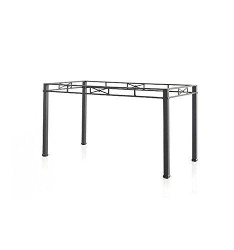 Mesa de forja Florencia - 6-Negro, Mesa de 110x60x74 cm. de Alto
