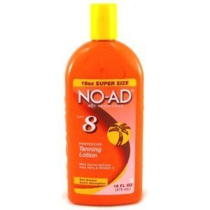 Suntan Self Tanning Water (NO-AD Protective Tanning Lotion, SPF 8, 16 Ounces)