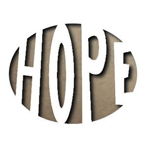 Sizzix 656934 Movers and Shapers Magnetic Die, Hope by Tim Holtz